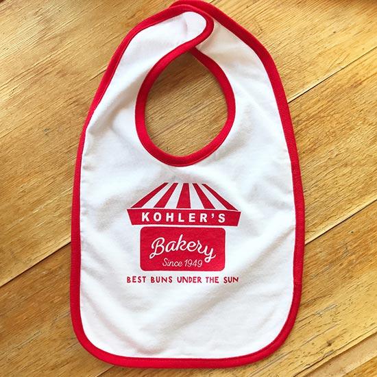 Kohler's Bakery Baby Bib