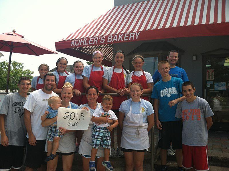 Kohler's Bakery Staff 2013