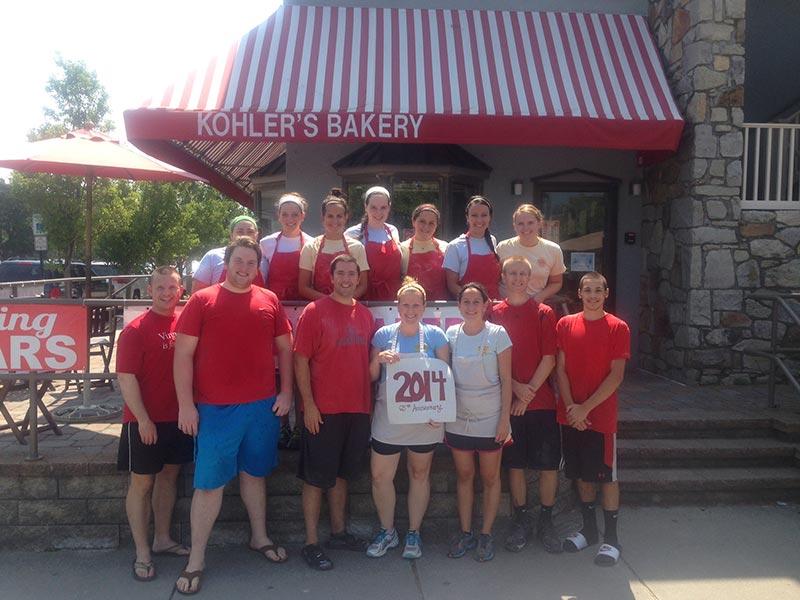 Kohler's Bakery Staff 2014